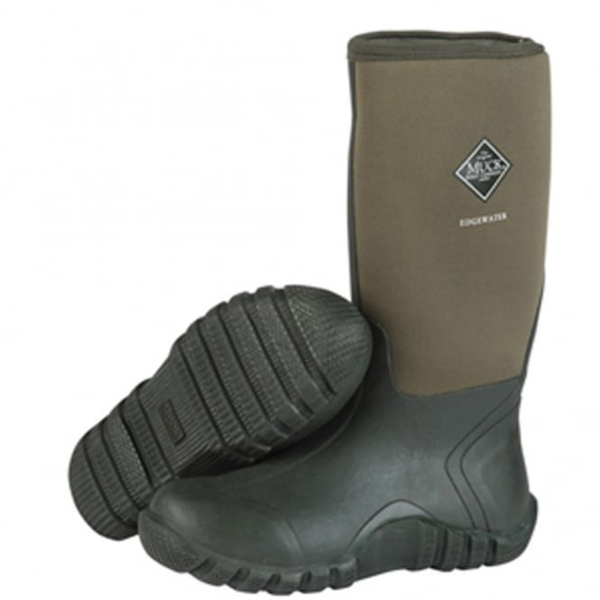The Muck Boot Company Edgewater Hi Moss Green, Perfect for rainy days in the country