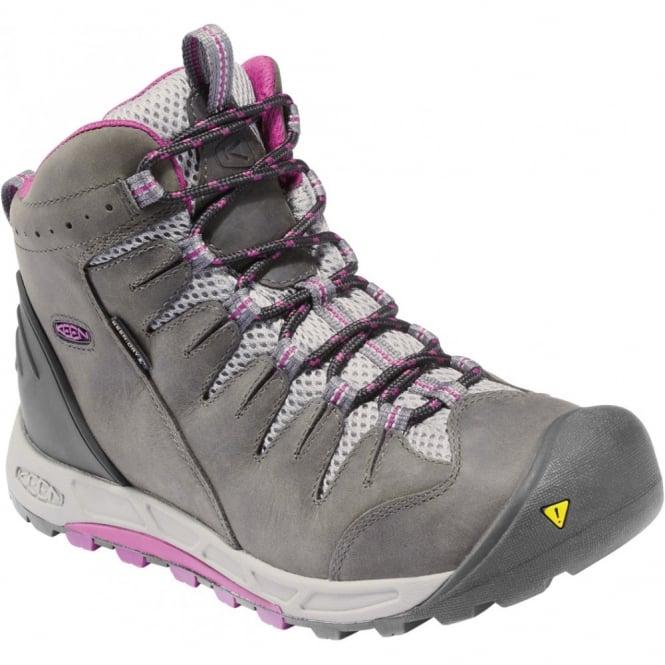 KEEN Womens Bryce Mid WP Dark Shadow/Hollyhock, Lightweight hiking for worldwide excursions