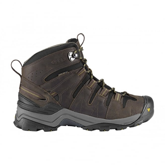 KEEN Mens Gypsum Mid Black Olive/Capulet Olive, Increased stability to go the miles