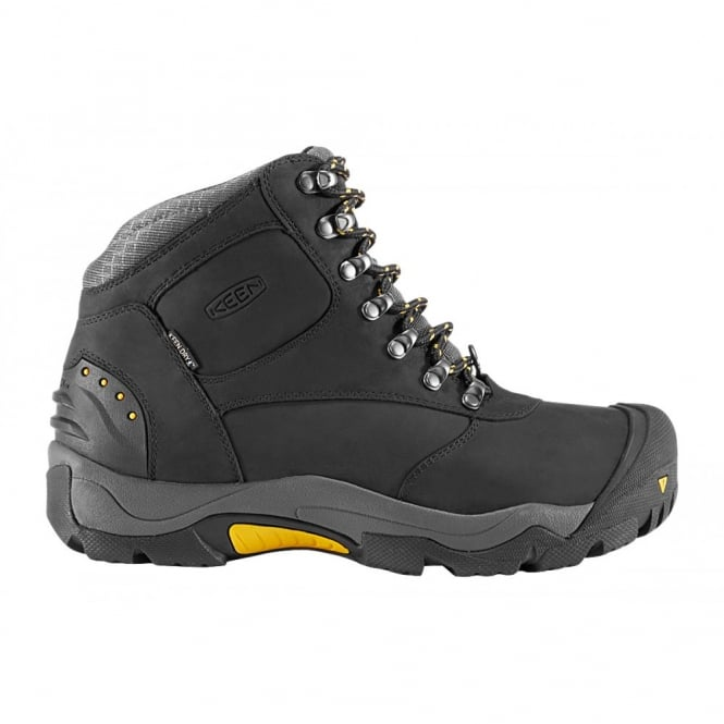KEEN Mens Revel II Black/Yellow, All-purpose winter boot with advanced insulation system