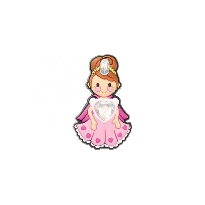 Jibbitz Rhinestone Heart Princess