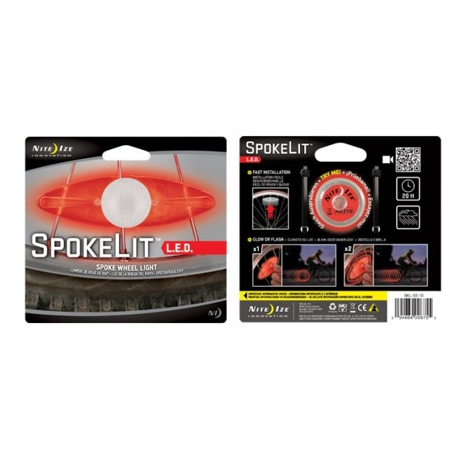 Nite Ize SpokeLit Red, light up your wheels, keeping night riders safe