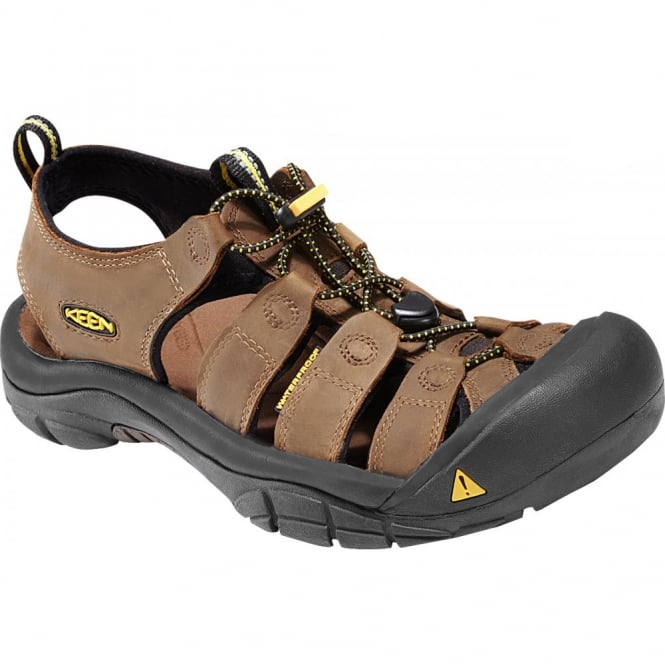 KEEN Mens Newport Bison, the original KEEN sandal with secure fit strap and toe bumper