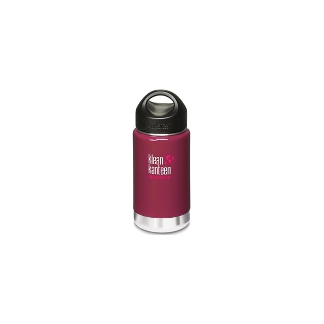 Klean Kanteen 335ml Wide Insulated Wild Raspberry, Double-Wall Vacuum Insulated Bottle & Mug