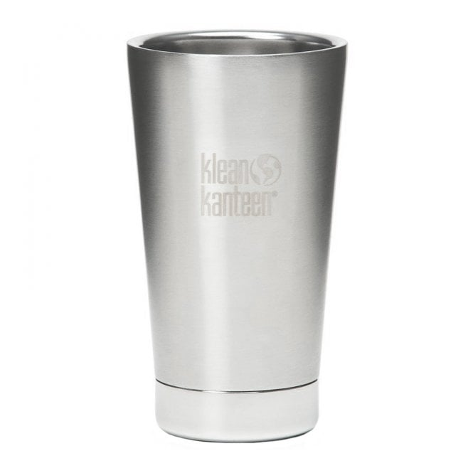 Klean Kanteen 473ml Insulated Tumbler Brushed Stainless Steel, Insulates hot and cold beverages