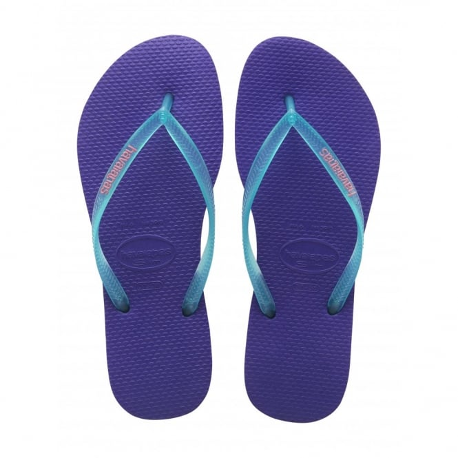 Havaianas Slim Logo Ice Violet, Womens fit