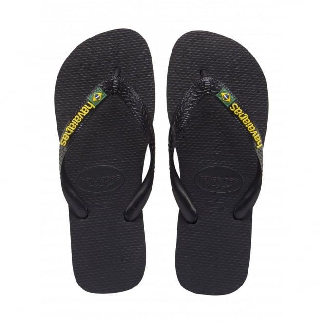 Havaianas Kids Brasil Logo Black, the original flip flop (but smaller!)