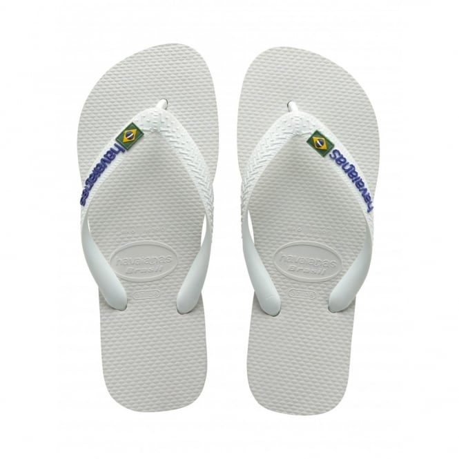 Havaianas Kids Brasil Logo White, the original flip flop (but smaller!)