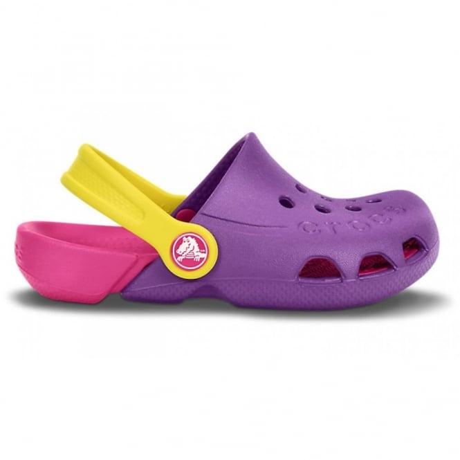 Crocs Kids Electro Shoe Dahlia/Candy Pink, light weight clog, double colours - double fun!