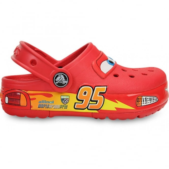Crocs Kids CrocLights Cars Red, the comfort of the Classic but with fun LED light up design