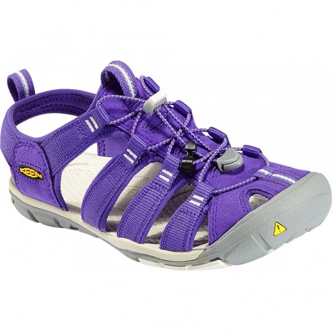 KEEN Womens Clearwater CNX Ultraviolet/Whisper White, a low profile lightened version of the orignal sandal