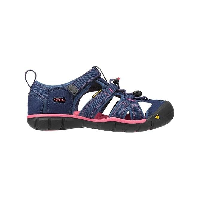 KEEN Kids Seacamp II Ensign Blue/Camellia Rose, a low profile lightened version of the orignal sandal