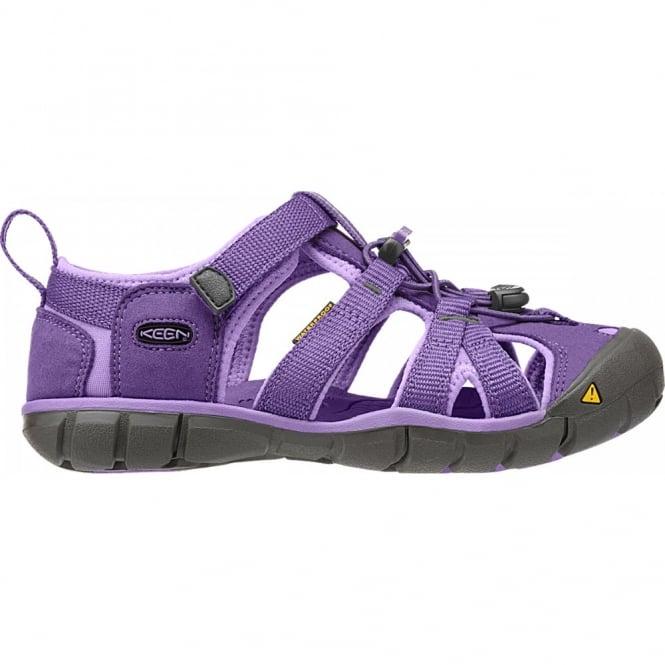 KEEN Kids Seacamp II Purple Heart/Bougainvillea, a low profile lightened version of the orignal sandal