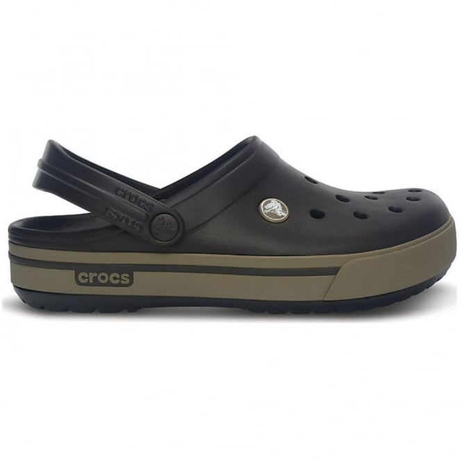 Crocs Crocband II.5 Clog Espresso/Khaki, Retro styled slip on croslite shoe