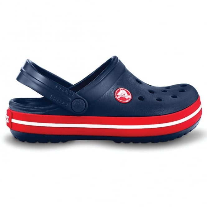 Crocs Kids Crocband Shoe Navy/Red, All the comfort of a Classic but with a Retro look