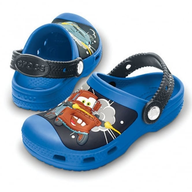 Crocs Creative Crocs Mater & Finn McMissile Clog Sea Blue/Graphite, Race around in comfort in clogs topped with Cars!