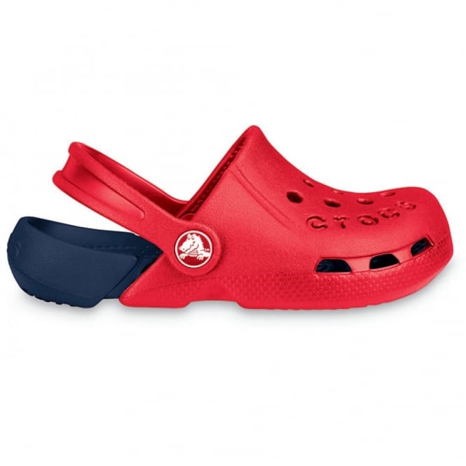 Crocs Kids Electro Shoe Red/Navy, light weight clog, double colours - double fun!
