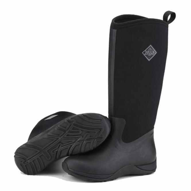 The Muck Boot Company Arctic Adventure Plain Black, lightweight, fleece lined neoprene winter welly