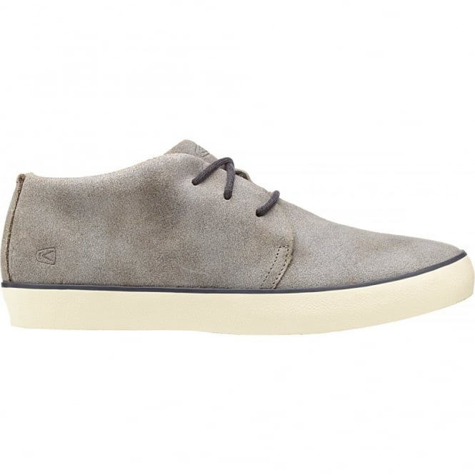KEEN Mens Santa Cruz Leather Warm Stone, Stylish leather lace up shoe