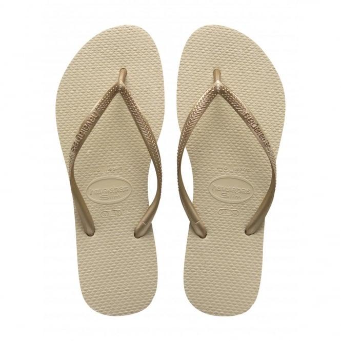 Havaianas Kids Slim Sand Grey/Light Golden, Slim fitting flip flops