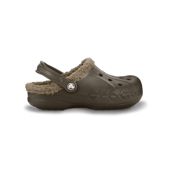 Crocs Baya Lined Espresso/Khaki, Fully molded Croslite shoe with fixed fuzzy liner