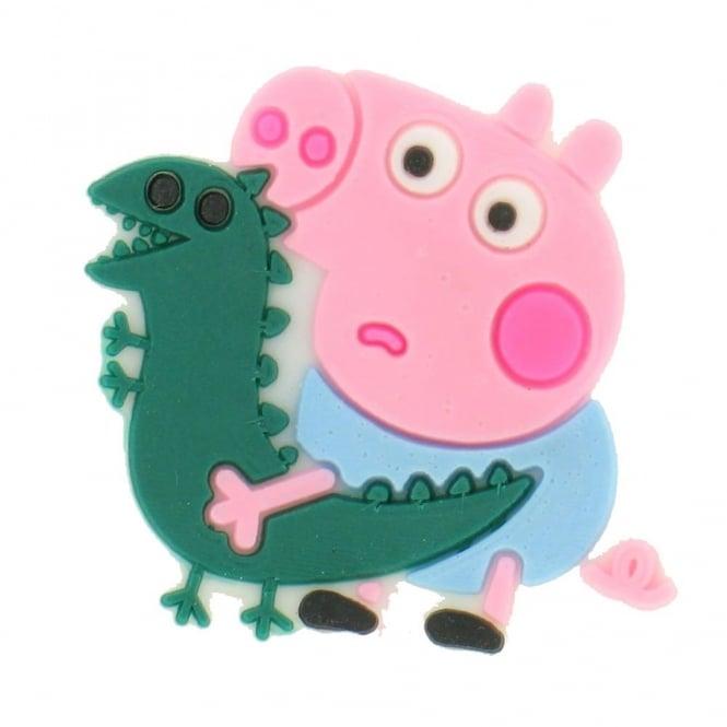 Shoe Charms Peppa Pig George with Dinosaur