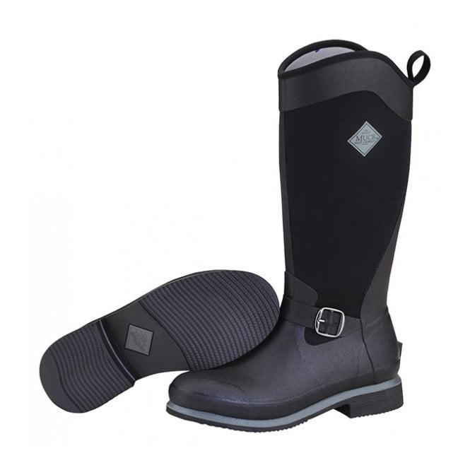 The Muck Boot Company Reign Tall Black/Gunmetal, Equestrian style boot
