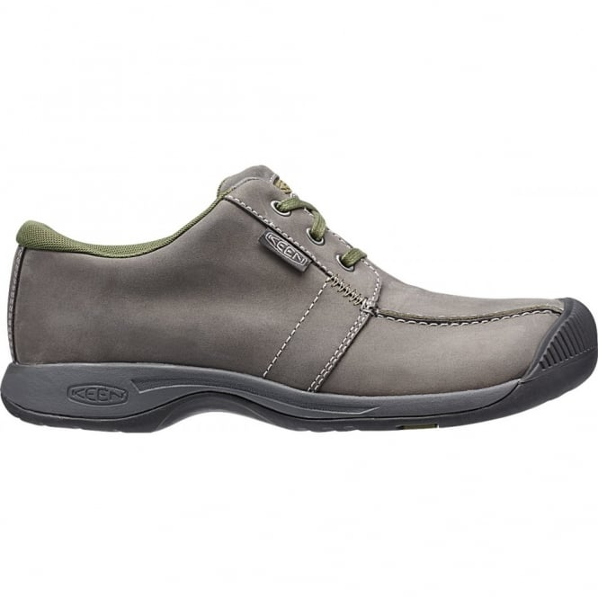 KEEN Mens Reisen Low Magnet, leather shoe with a super comfortable recycled foam footbed