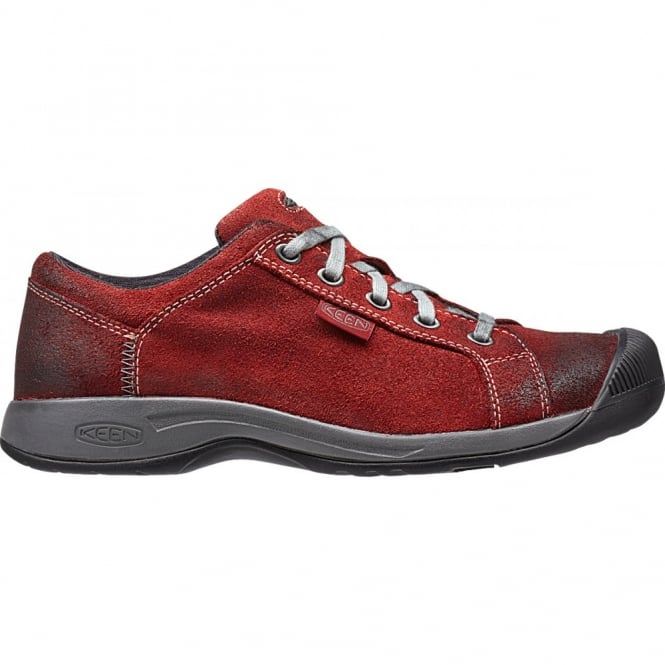 KEEN Womens Reisen Lace Bossa Nova, leather shoe with our super comfortable recycled foam footbed