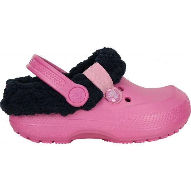 Crocs Kids Blitzen II Clog Party Pink/Nautical Navy, easy to remove liner