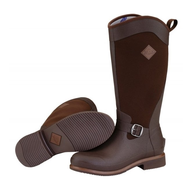 The Muck Boot Company Reign Tall Chocolate/Bison, Equestrian style boot