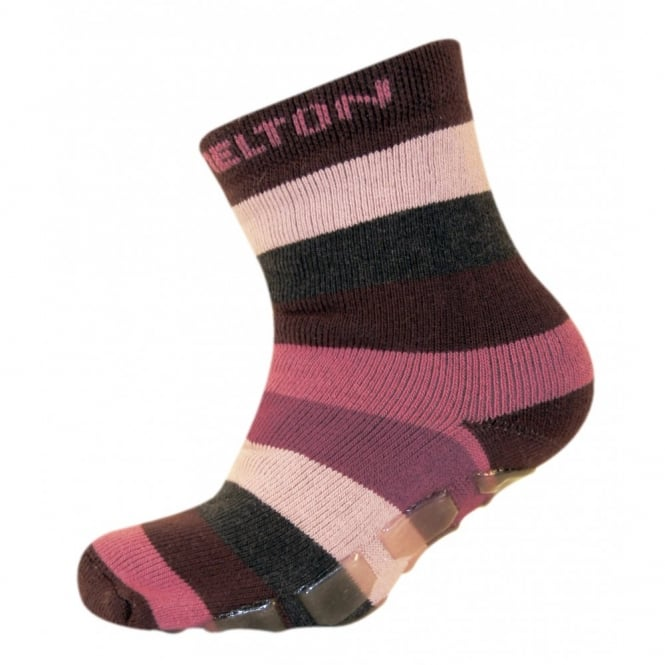Melton ABS Sock 781 Bordeaux, Sock with a non-skid sole