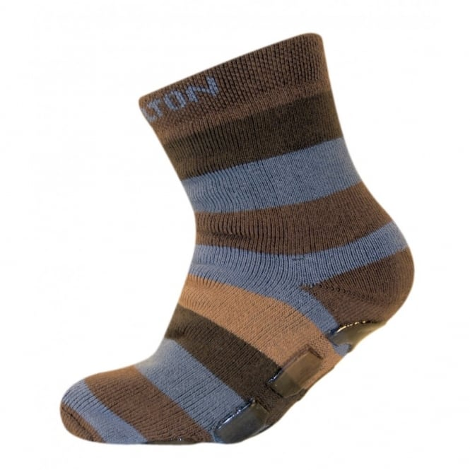 Melton ABS Sock 475 Medium Brown, Sock with a non-skid sole