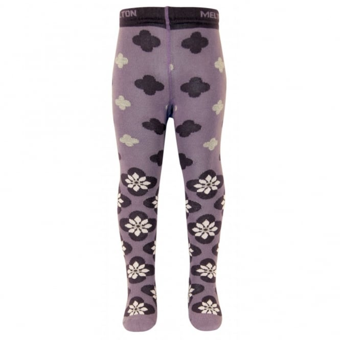 Melton Baby tights Dianthus 734 Light Grape, Soft and durable cotton tights