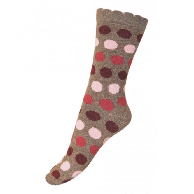 Melton Sock Dots Bubble 477 Melange Denver, Wave-shaped cuff for an irresistible look