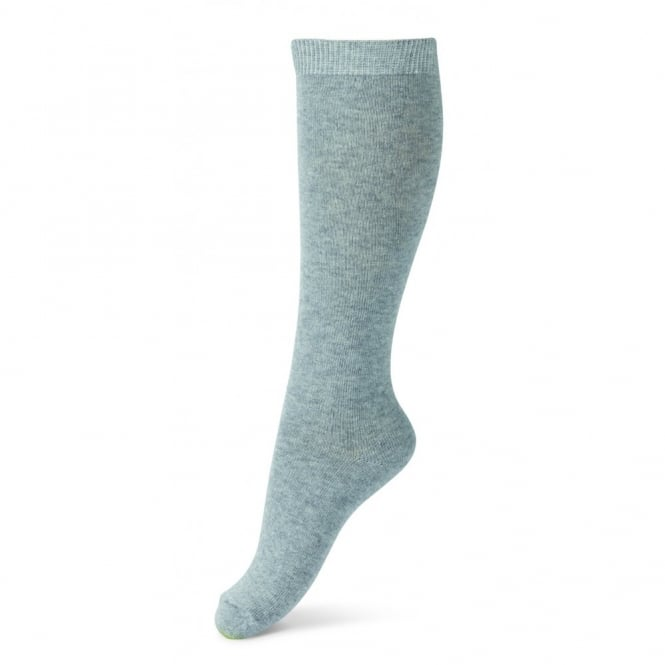 Melton Sock Classic Superwash Wool Knee High 135 Light Grey Melange, Perfect with boots and school shoes