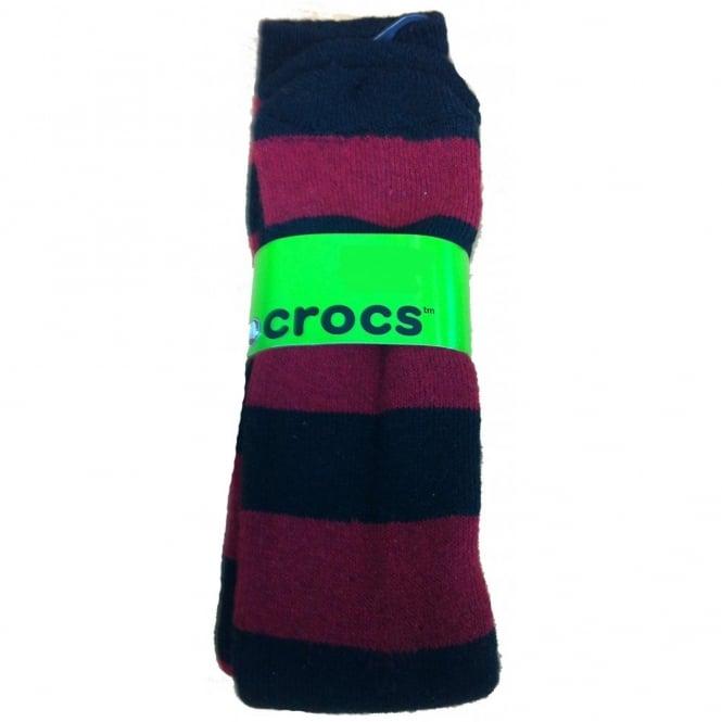 Crocs Socks Red/Black
