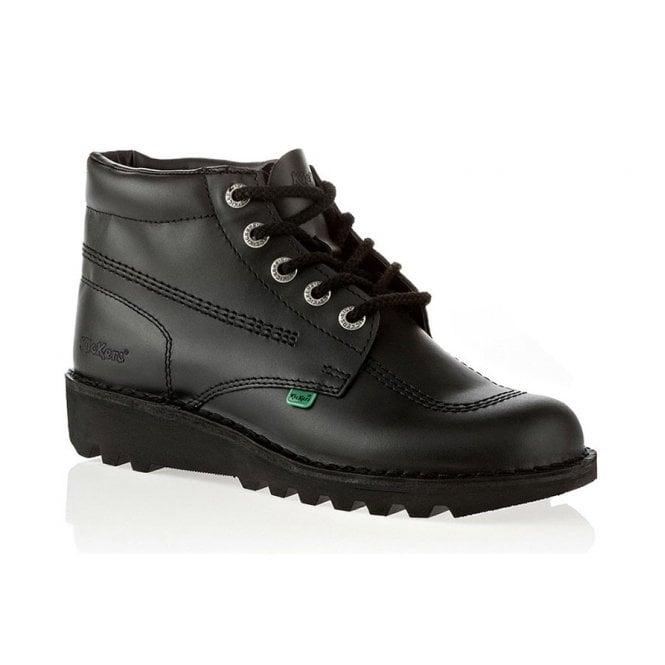 Kickers Kick Hi Mens Black, Leather lace up boot