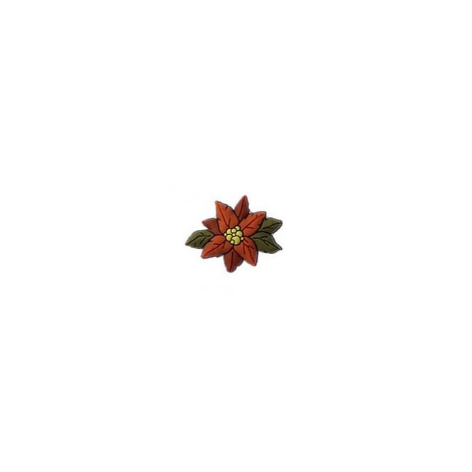 Jibbitz Christmas Poinsettia Flower