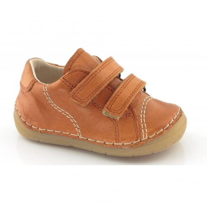 Froddo Mini Velcro G2130055-3 Orange, Soft Leather Toddler shoe