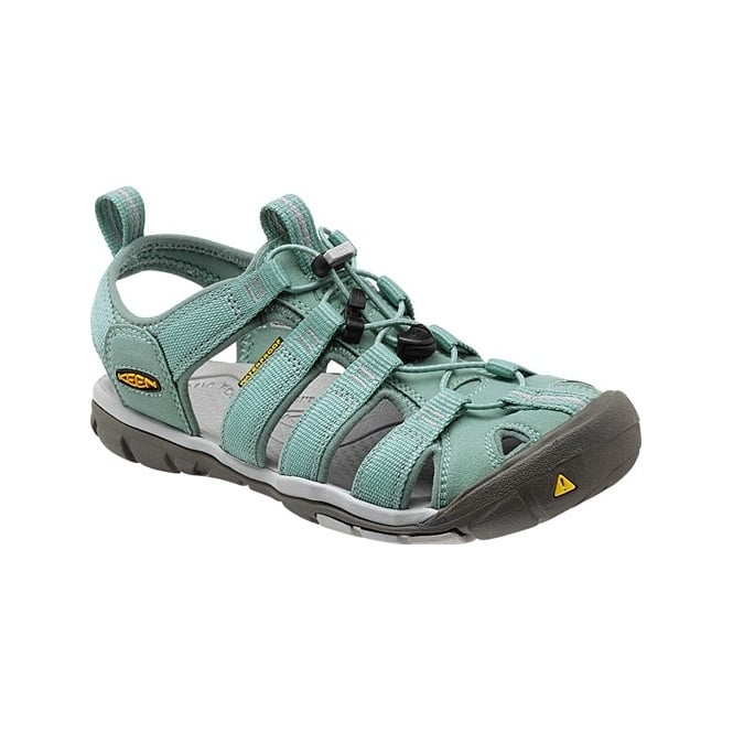 KEEN Womens Clearwater CNX Mineral Blue/Vapor, a low profile lightened version of the orignal KEEN sandal