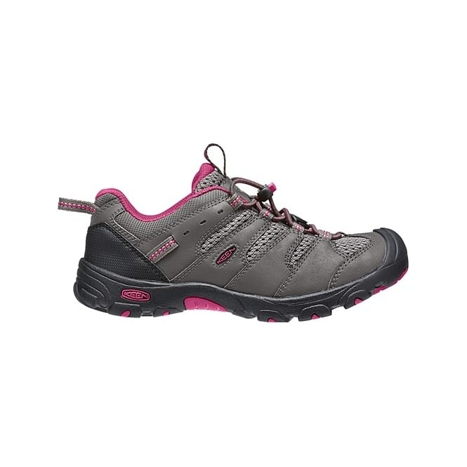 KEEN Youth Koven Low WP Magnet/Cerise, kid's waterproof low-cut hiking boot is an easy to wear