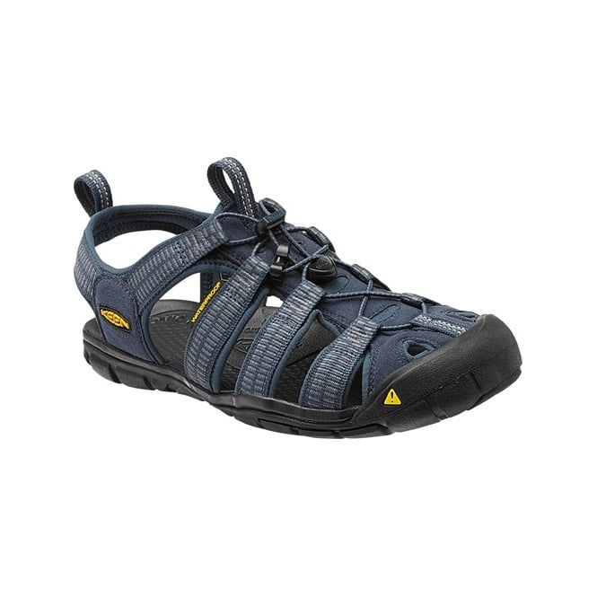 KEEN Mens Clearwater CNX Midnight Navy/Gargoyle, a low profile lightened version of the orignal sandal