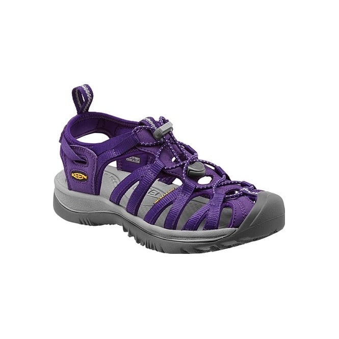 KEEN Womens Whisper Parachute/Neutral Grey, a narrow version of the orignal sandal with toe bumper