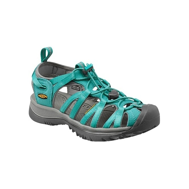 KEEN Womens Whisper Baltic/Neutral Grey, a narrow version of the orignal sandal with toe bumper