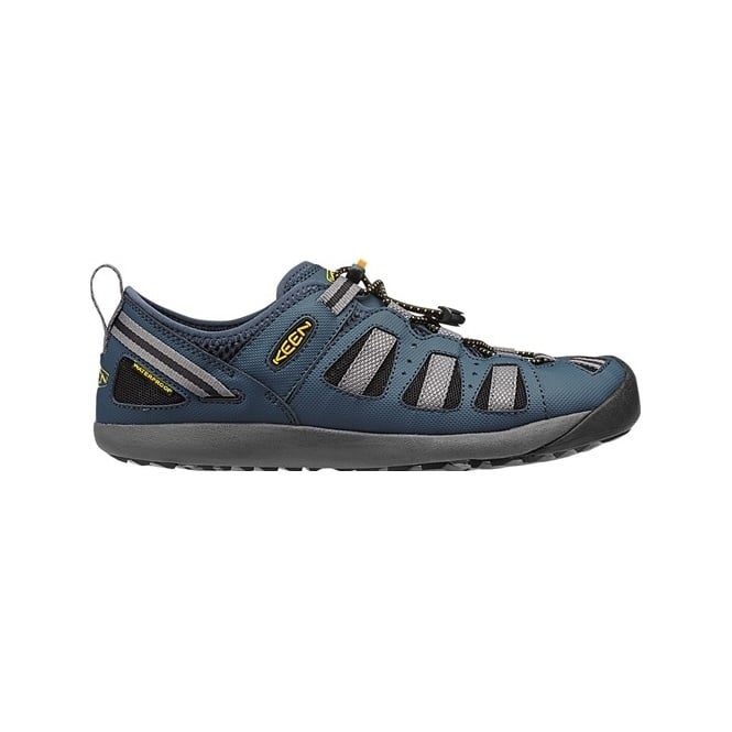 KEEN Mens Class 5 Tech Midnight Navy/Gargoyle, newest amphibious full-coverage water shoe is ready for adventure