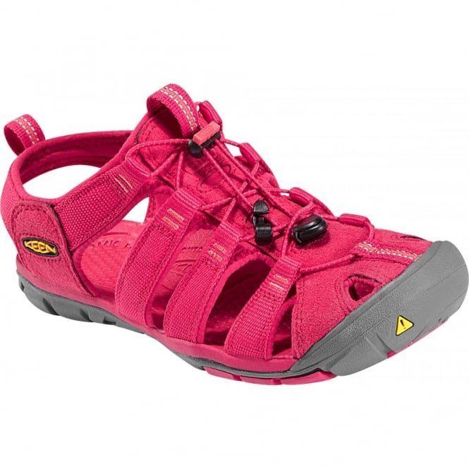 KEEN Womens Clearwater CNX Barberry/Hot Coral , a low profile lightened version of the orignal KEEN sandal