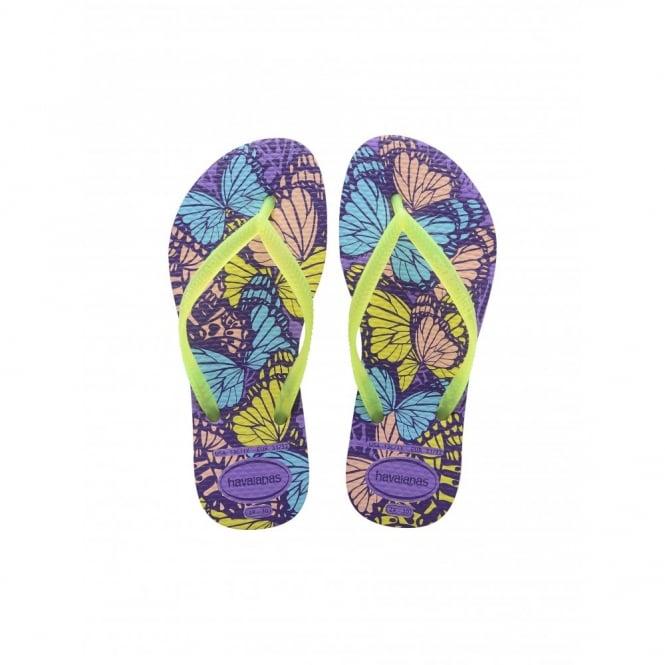 Havaianas Kids Slim Fashion Dark Purple, Slim fitting flip flop