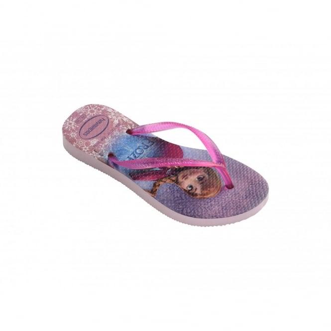 Children's Shoes Kids Slim Frozen Crystal Rose, slim fitting flip flop