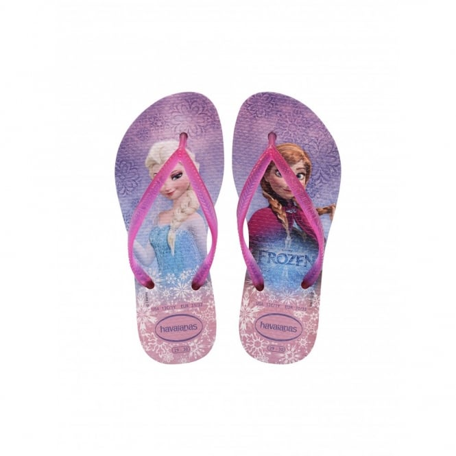 Havaianas Kids Slim Frozen Crystal Rose, slim fitting flip flop
